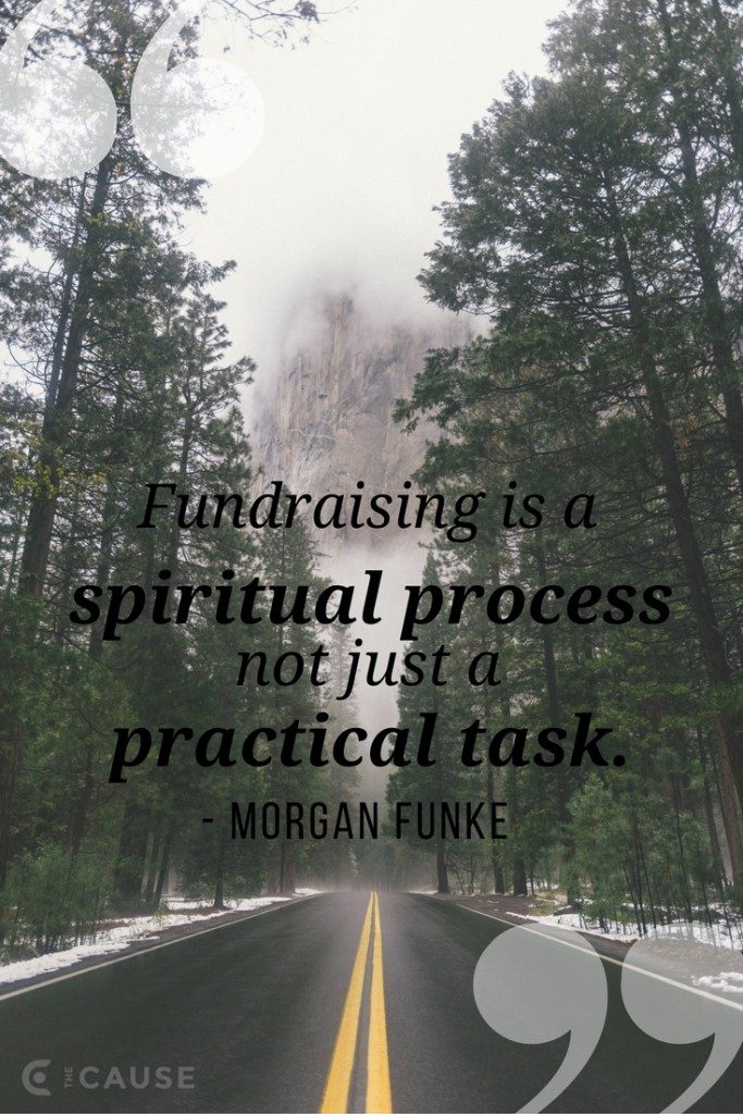 Fundraising is a spiritual process not just a practical task - how to write a support letter